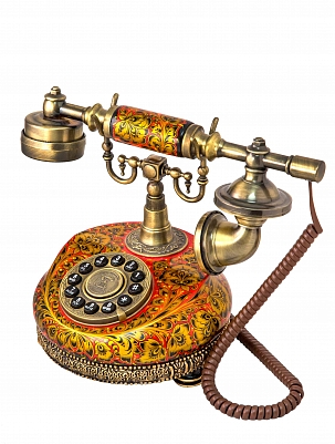 Retor-phone with khokhloma paiting