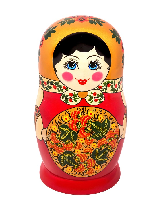 Matryoshka with khokhloma painting 12 pcs
