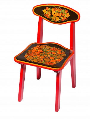 Chair for child 2 with khokhloma painting