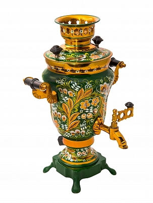 Samovar with khokhloma painting 1,5 l.