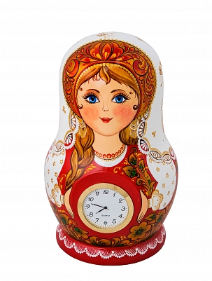 "Table clock ""Matryoshka"" 230*140"