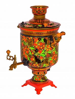 Samovar with khokhloma painting 7 l.