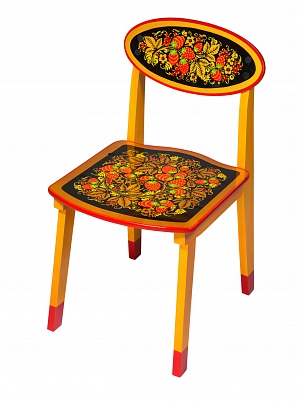 Chair for child 3 with khokhloma painting